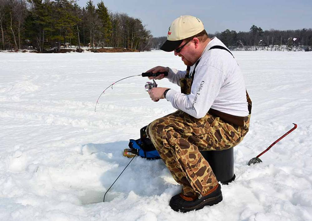 northern wisconsin ice fishing guide mike best guide service